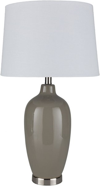 Surya Lyle Taupe Ceramic Table Lamp - 15x27 LYE-002