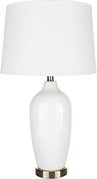 Surya Lyle White Ceramic Table Lamp - 15x27 LYE-003