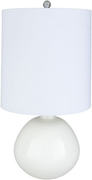 Surya Lyric White Glass Table Lamp - 15.5x30.25 LYR-002