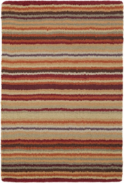 Mystique Contemporary Burgundy Rust Olive Wool Area Rug (l 36 X W 24) M102-23