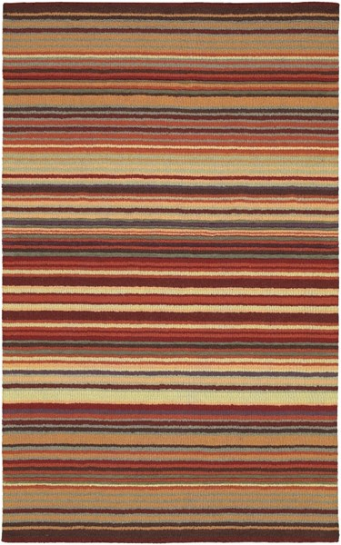Mystique Burgundy Chocolate Rust Olive Violet Wool Area Rug - 60 x 96 M102-58