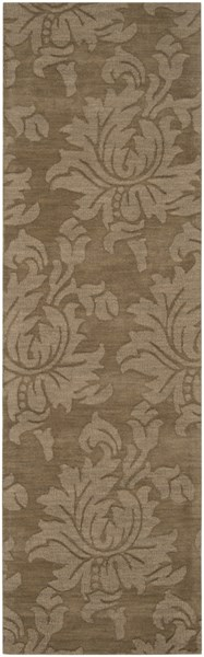Mystique Contemporary Olive Wool Geometric Runner (L 96 X W 30) M174-268