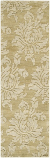 Mystique Contemporary Beige Wool Hand Woven Runner (L 96 X W 30) M206-268