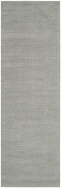 Mystique Contemporary Light Gray Wool Geometric Runner (L 96 X W 30) M211-268