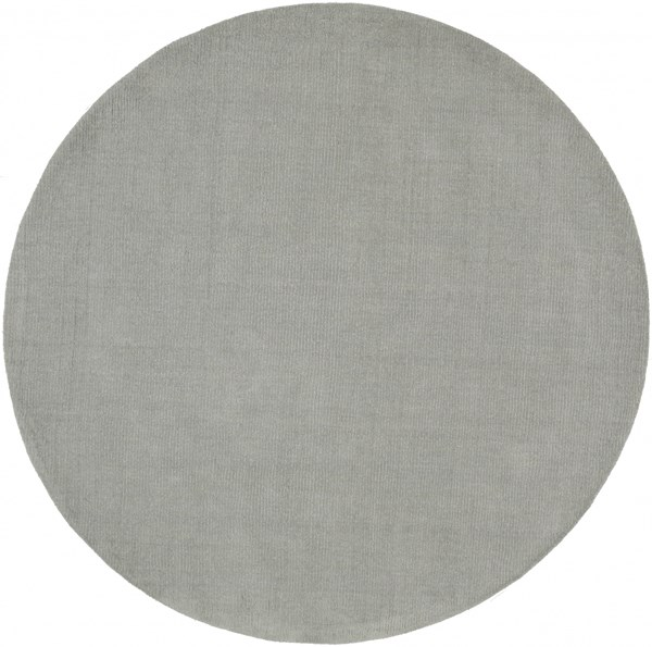 Mystique Contemporary Light Gray Wool Area Rug (L 72 X W 72) M211-6RD