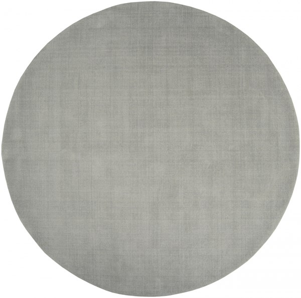 Mystique Light Gray Wool Round Area Rug (L 96 X W 96) M211-8RD