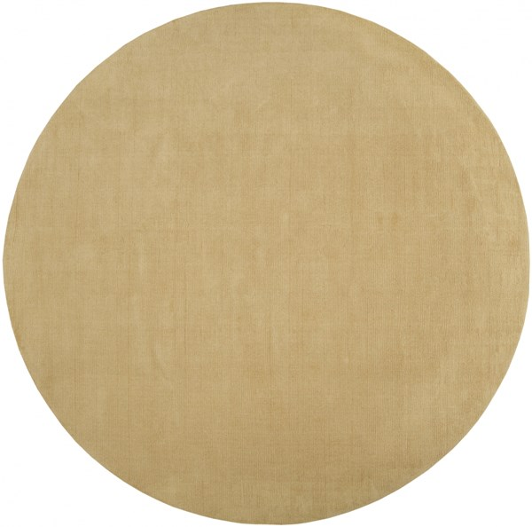 Mystique Contemporary Beige Wool Round Area Rug (L 96 X W 96) M263-8RD