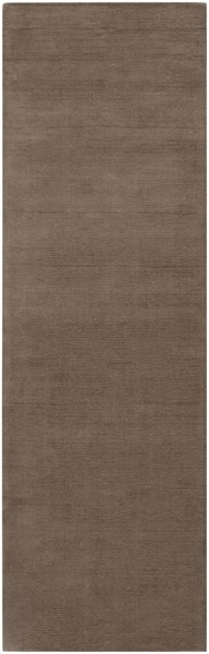 Mystique Contemporary Taupe Wool Hand Woven Runner (L 96 X W 30) M265-268