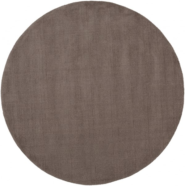 Mystique Contemporary Taupe Wool Round Area Rug (L 72 X W 72) M265-6RD