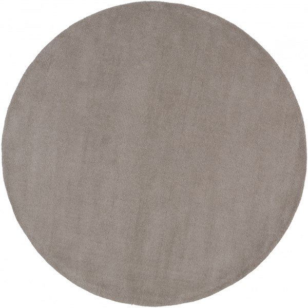 Mystique Contemporary Gray Wool Round Area Rug (L 72 X W 72) M266-6RD