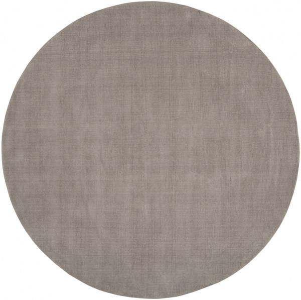 Mystique Gray Wool Round Area Rug (L 96 X W 96) M266-8RD