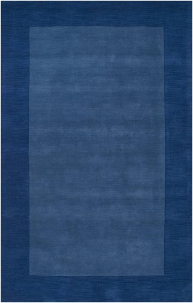 Surya Mystique Dark Blue Wool Area Rug 114 x 90 M308-7696