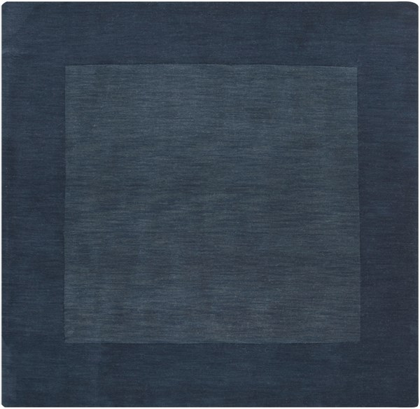 Mystique Contemporary Navy Wool Square Area Rug (L 96 X W 96) M309-8SQ