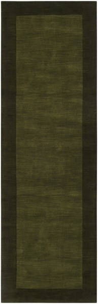 Mystique Contemporary Olive Forest Wool Runner (L 96 X W 30) M315-268