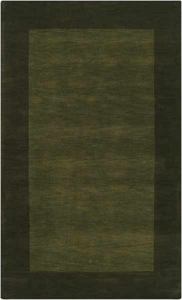 Mystique Contemporary Olive Forest Wool Area Rug (L 96 X W 60) M315-58