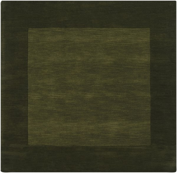 Mystique Contemporary Olive Forest Wool Square Area Rug (L 96 X W 96) M315-8SQ