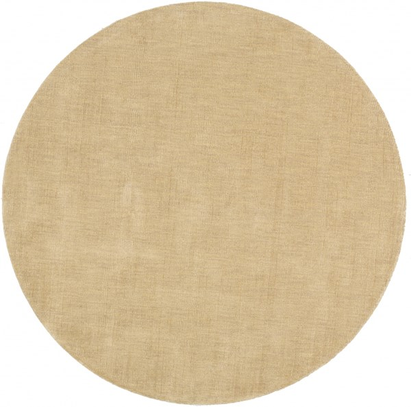 Mystique Contemporary Tan Wool Round Area Rug (L 72 X W 72) M327-6RD