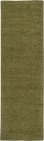 Mystique Contemporary Olive Wool Runner (L 96 X W 30) M329-268