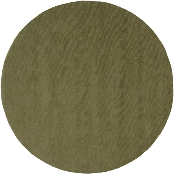Mystique Contemporary Olive Wool Round Area Rug (L 72 X W 72) M329-6RD