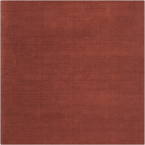 Mystique Burgundy Wool Square Area Rug (L 96 X W 96) M331-8SQ