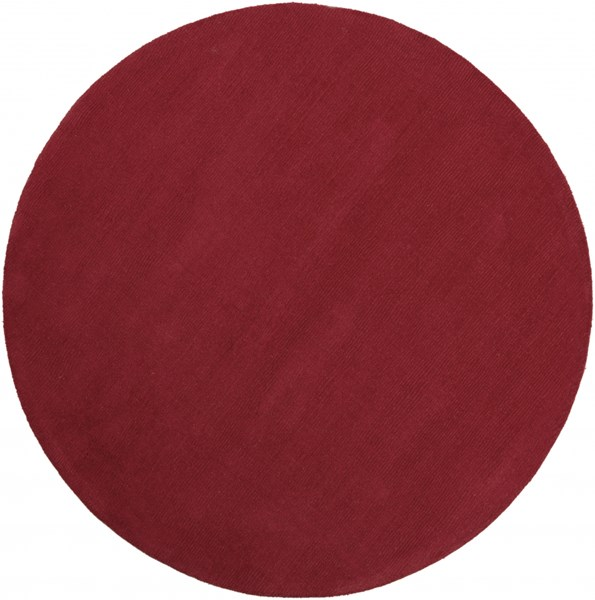 Mystique Contemporary Cherry Wool Round Area Rug (L 72 X W 72) M333-6RD