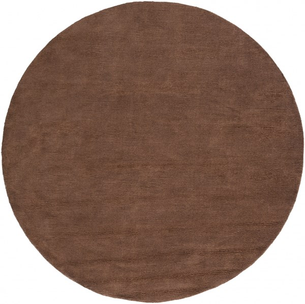 Mystique Contemporary Mocha Wool Round Area Rug (L 72 X W 72) M334-6RD