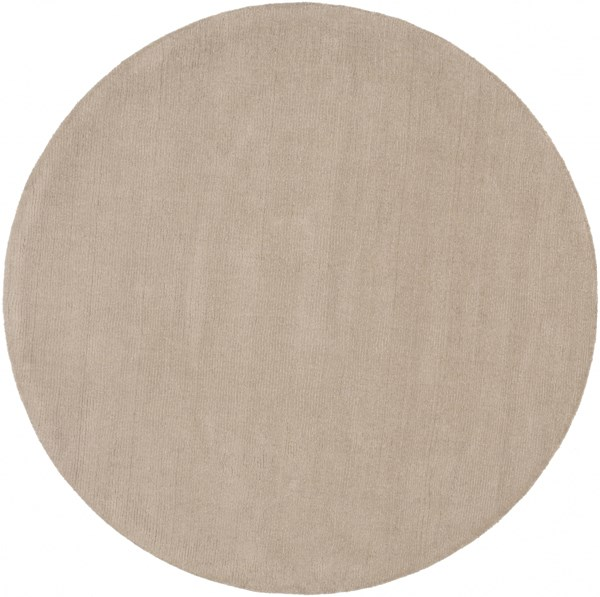 Mystique Taupe Wool Round Hand Woven Area Rug (L 72 X W 72) M335-6RD