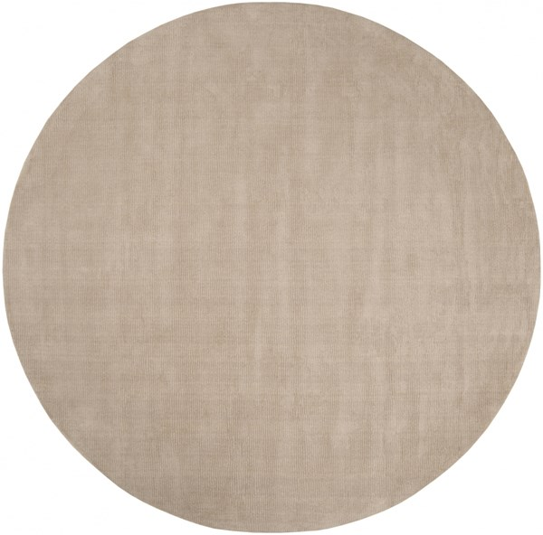 Mystique Contemporary Taupe Wool Round Area Rug (L 96 X W 96) M335-8RD
