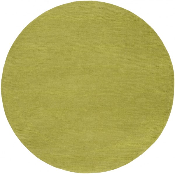 Mystique Contemporary Lime Wool Round Area Rug (L 72 X W 72) M337-6RD
