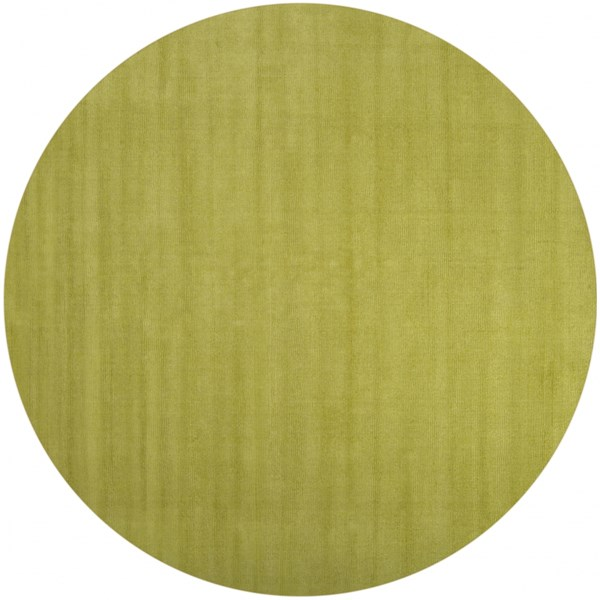 Mystique Lime Wool Round Area Rug (L 96 X W 96) M337-8RD
