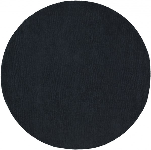 Mystique Contemporary Charcoal Wool Round Area Rug (L 72 X W 72) M340-6RD