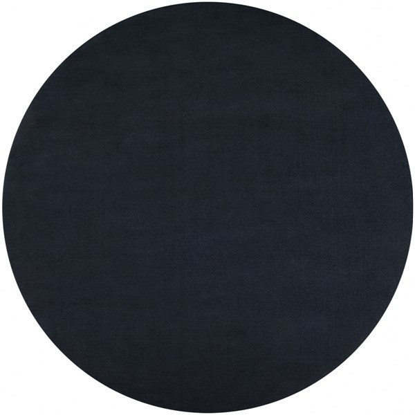 Mystique Charcoal Wool Round Area Rug (L 96 X W 96) M340-8RD