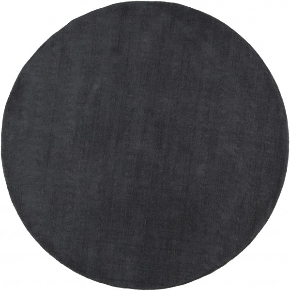 Mystique Contemporary Charcoal Wool Round Area Rug (L 96 X W 96) M341-8RD