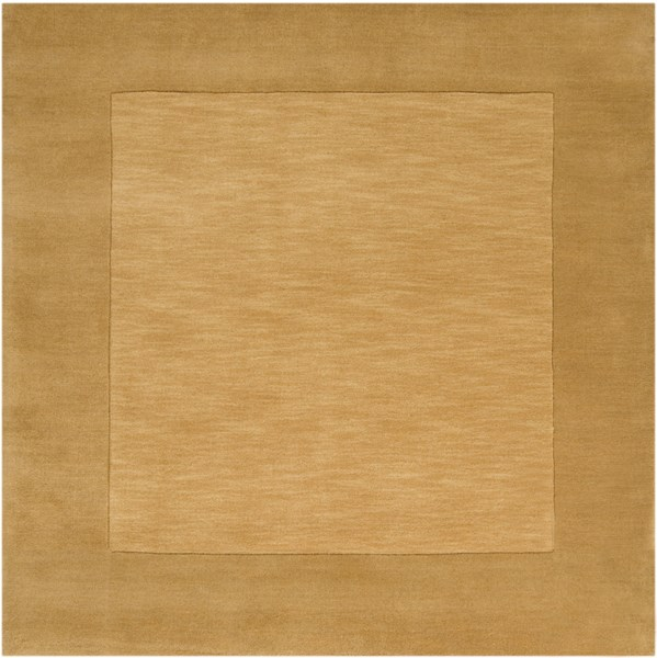 Mystique Gold Burnt Orange Wool Square Area Rug (L 96 X W 96) M345-8SQ