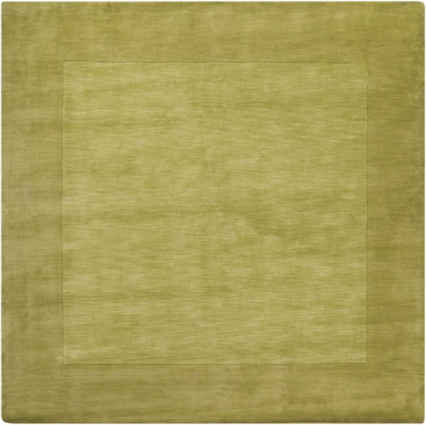 Mystique Contemporary Lime Wool Square Area Rug (L 96 X W 96) M346-8SQ