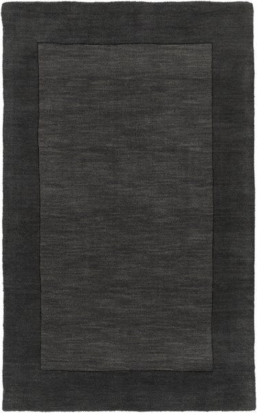 Mystique Contemporary Charcoal Black Wool Area Rug (L 63 X W 39) M347-3353