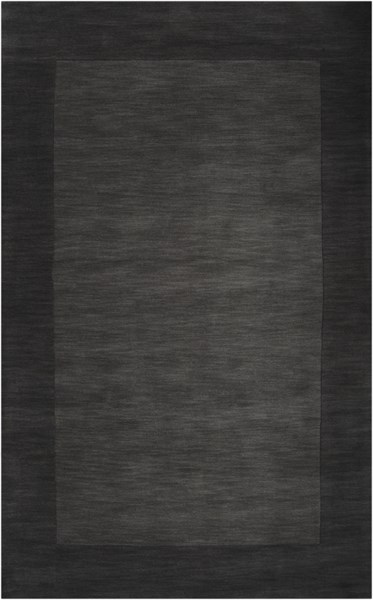 Mystique Contemporary Charcoal Black Wool Area Rug (L 96 X W 60) M347-58