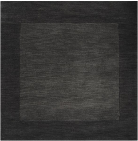 Mystique Charcoal Black Wool Square Area Rug L 96 X W 96