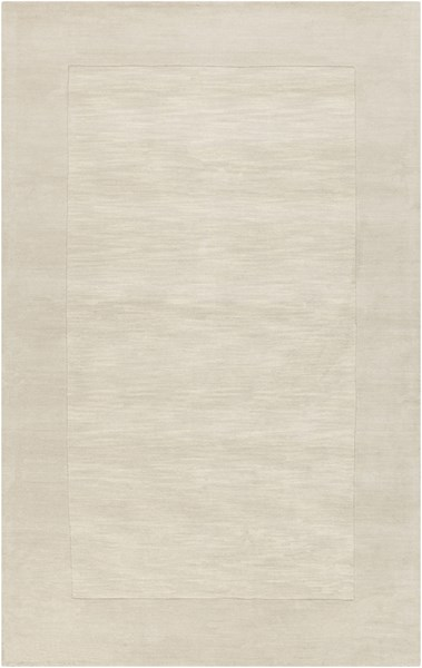 Mystique Contemporary Ivory Beige Wool Area Rug (L 96 X W 60) M348-58