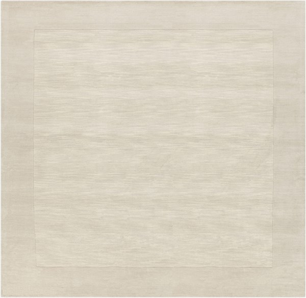Mystique Contemporary Ivory Beige Wool Square Area Rug (L 96 X W 96) M348-8SQ