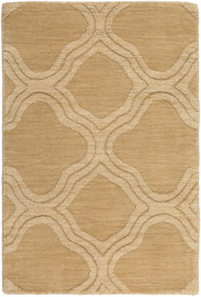 Mystique Contemporary Gold Teal Wool Rugs 400-VAR1