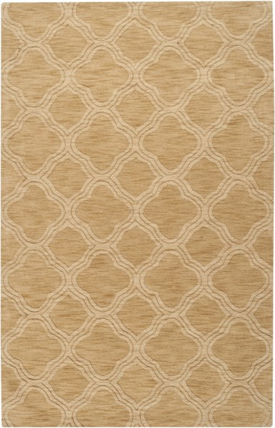 Mystique Contemporary Gold Fabric Hand Woven Area Rug (L 96 X W 60) M418-58