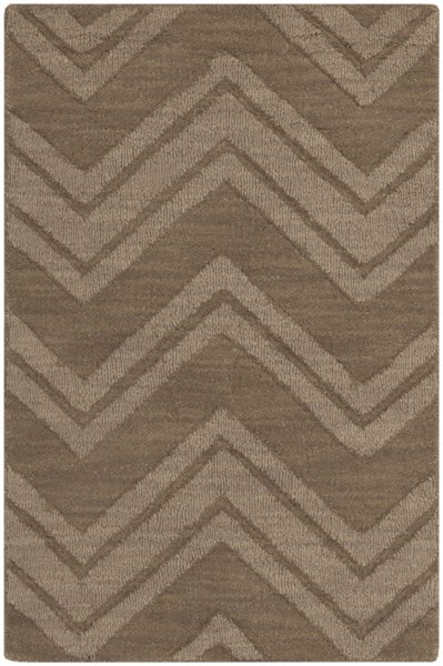 Mystique Contemporary Taupe Fabric Hand Woven Area Rug (L 36 X W 24) M437-23