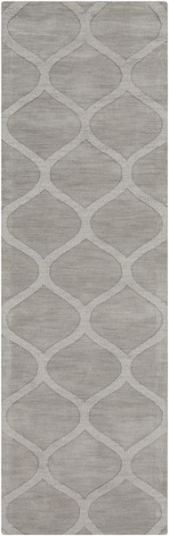 Mystique Contemporary Gray Fabric Hand Woven Runner (L 96 X W 30) M5101-268