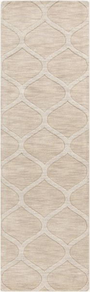 Mystique Contemporary Ivory Wool Hand Woven Runner (L 96 X W 30) M5107-268