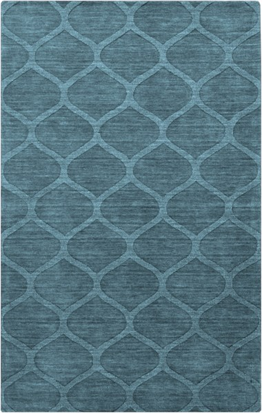 Mystique Contemporary Teal Fabric Hand Woven Area Rug (L 96 X W 60) M5109-58