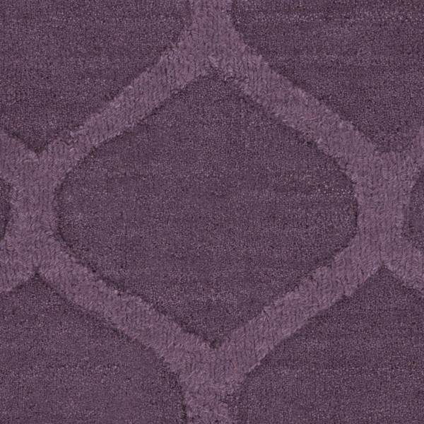 Surya Mystique Eggplant Wool Sample Area Rug 18 x 18 M5119-1616