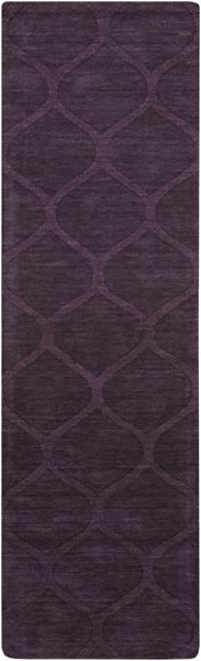 Mystique Contemporary Eggplant Wool Hand Woven Runner (L 96 X W 30) M5119-268