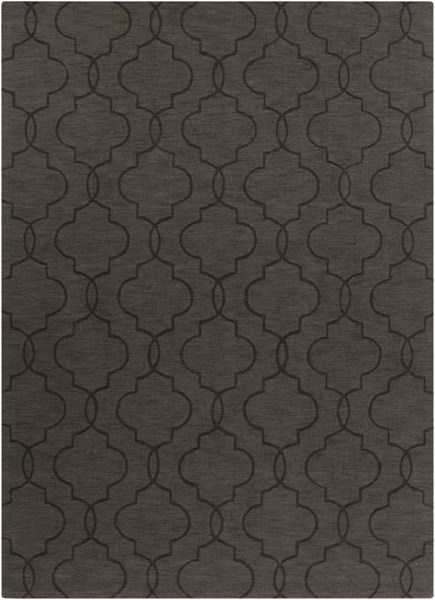 Mystique Contemporary Black Fabric Rectangle Area Rug M5174-811
