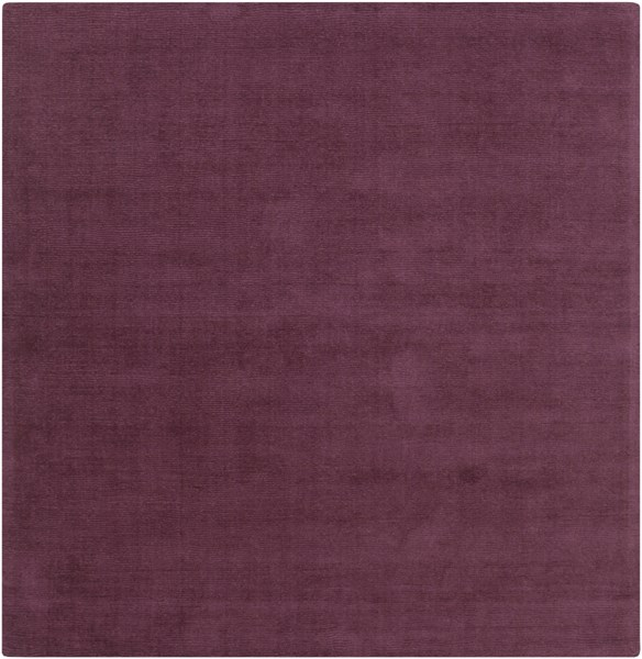 Mystique Eggplant Wool Square Area Rug (L 96 X W 96) M5326-8SQ